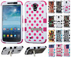 Samsung Galaxy Mega 6.3  Rubber IMPACT TUFF HYBRID KICK STAND Case Phone Cover