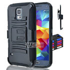 For ZTE Overture 2 Z813 Rugged Hybrid H Stand Holster Case Colors