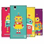 HEAD CASE DESIGNS ROBOT KIDS HARD BACK CASE FOR SONY PHONES 3