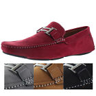 Moda Essentials H Buckle Men's Suede Driving Moc Loafers Shoes