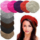 WOMANS LADIES UNISEX ONE SIZE WARM KNITTED WINTER WOOL HAT BERET CAP SLOUCH