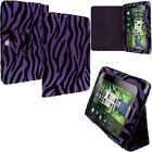 Color Zebra Folio Pouch Holder Case Cover Stand for Blackberry Playbook Tablet