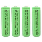 4 pcs AA 3000mAh Ni-MH 1.2V Rechargeable Battery Green For Toy RC Solar Light
