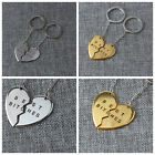 Unisex Best Bitches Best Friend BFF Heart Friendship Pendant Necklace Key Chain