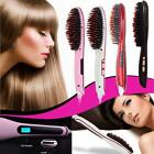 Automatic LCD Temperature Control Paddle Brush Hair Straightener UK Plug&4Color
