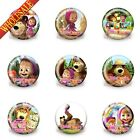 18-90PCS Masha and Bear Buttons pins badges,30MM,Round Brooch Badges Accessories