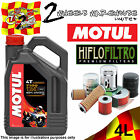4L LTR MOTUL 7100 10W40 OIL AND HIFLO HF152 FILTER CAN-AM 500 OUTLANDER EFI 2012