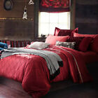 Luxury Silk/Cotton Queen King Bed Linen New Duvet Covers Quilt/Doona Cover Set