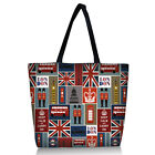 London Style Zippered Reusable Foldable Shopping Bag Shoulder Handbag Tote Hot