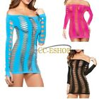 Women Night Sexy Net Hollow Out Nightgown Chemise Sleepwear Underwear Mini Dress