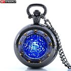 Vintage Star Gate Water Antique Pocket Watch Chain Quartz Necklace Gift New image