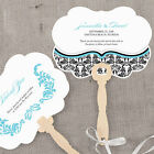 love bird chocolates - 24 Personalized Love Bird Damask Hand Fans Wedding Favors