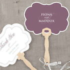 hand fans personalised - 24 Personalized Contemporary Vintage Hand Fans Wedding Favors