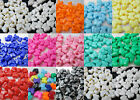 50 - 10x12mm Opaque Butterfly Pony Beads Made in USA - Color Choice