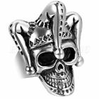 Fashion Stainless Steel Punk Floral Skull Biker Men's Ring Jewelry Size 7-12
