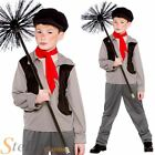 Boys Victorian Chimney Sweep Child Fancy Dress Costume Kids Book Week Outfit