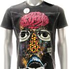 m297b Minute Mirth T-shirt Sz M Tattoo VTG LIMITED EDITION Skull Monster Shark