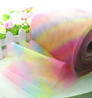 "5/25/100yard 6"" Rainbow tulle tutu sewing trim Wedding Decoration Craft L1976"