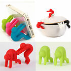 2 x Silicone Phone Holder Cooking Gadget Spill-proof Lid Kitchen Chopsticks Rest
