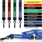 PRE PRINTED Lanyards Neck Strap For ID Pass Card Badge Holder Safety Breakaway