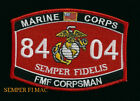 MOS 8404 FMF CORPSMAN PATCH US NAVY FLEET MARINE FORCE PIN UP DOC MCAS MARINES
