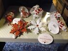 NWT Peppermint Twist Collection Christmas Ornaments U Chose Bears Bird Snowman