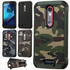 Motorola Droid Turbo 2 Rubber IMPACT TRI HYBRID Case Skin Phone Cover Accessory