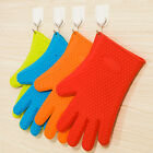 1pcs Kitchen Heat Resistant Silicone Glove Oven Holder Baking BBQ Cooking Mitts