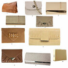 New Beige Cream Tan Clutch Bags Snake Patent F Leather Patent Wedding Outfit