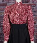 FRONTIER CLASSICS NEW Burgundy Print Prairie Blouse Dickens Cowgirl