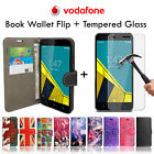 Leather Wallet Phone Case✔Tempered Glass LCD Guard for Vodafone Smart Ultra 6