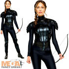 Katniss Ladies Fancy Dress The Hunger Games Mockingjay Book Film Adults Costume