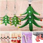 Lampwork Glass Christmas Tree Santa Pendant + Earrings Set Fashion Jewelry Gift