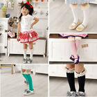 Lovely Kids Baby Girls High Knee School Hot Soccer Socks Tights Lace Cotton HOT