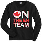 Threadrock Women's On The Eh Team Long Sleeve T-shirt Funny Canada Canadian Flag