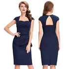 Sexy New Women Vintage Evening Bodycon Pencil Slim Fit Wear To Work Party Dress