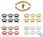 1inch GLITTER CROWN STICKER SELF ADHESIVE CARD MAKING DIY CRAFT EMBELLISHMENT