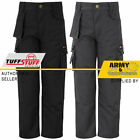 Kids Junior Work Trouser Tuff Multi Pocket Boys Pants Triple Stitched Workwear
