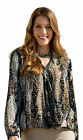 NEW LADIES WOMANS BEST EVENING SNAKE ANIMAL PRINT LOOSE FIT TOP BLOUSE