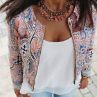 Fashion Womens Floral Slim Casual Summer Blazer Suit Jacket Trench Coat Outwear