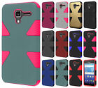 For Kyocera Hydro View IMPACT TUFF HYBRID Case Skin Phone Cover + Screen Guard