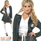 Preppy School Girl St Trinian's Fancy Dress Ladies Costume Outfit UK 8-14 New