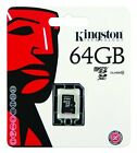 64GB Kingston MICRO SD SDHC MEMORY CARD WITH SD ADAPTER TF HC MICRO SD CLASS 10