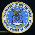 DEPARTMENT OF THE AIR FORCE PATCH US AIR FORCE DOD USAF PIN UP PILOT CREW AFB