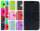 Cricket LG Risio Premium Leather 2 Tone Wallet Case Flip Cover +Screen Protector