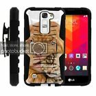 For LG Escape 2 | Rugged Holster Clip Heavy Duty Case Wild Animals