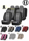 22pc Premium Mesh Steering Wheel Seat Covers 40/50/60 Split Bench Cover for CARs
