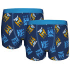 Manchester City FC Official Soccer Gift 2 Pack Boys Crest Boxer Shorts