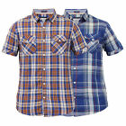 Mens Checked Shirt By Brave Soul Short Sleeved