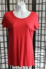 SOFT!!!! Women's ORGANIC 70%BAMBOO/30% Cotton SS Tee Shirt- EARTH RED